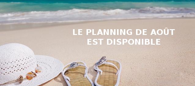 Planning d'Août 2016