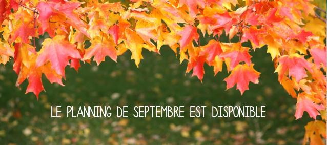 Planning de Septembre 2016