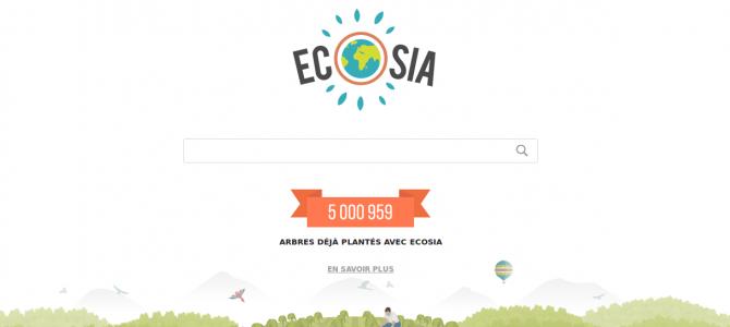 Ecosia, le moteur de recherche écolo