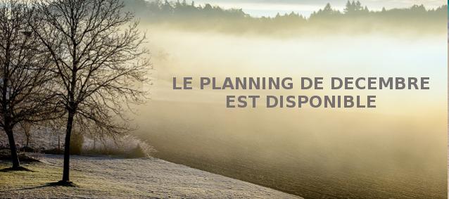 Planning de décembre 2016