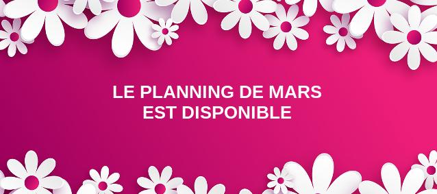Planning de Mars 2017
