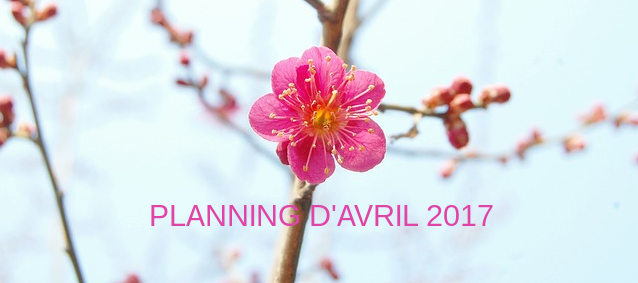 Planning d'Avril 2017