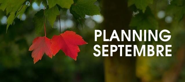 Planning de Septembre 2017