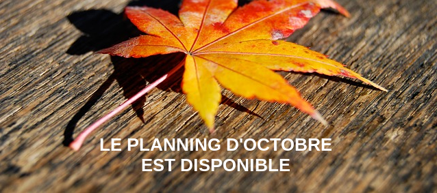 Planning d'Octobre 2017